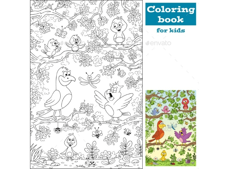 Coloring Book Template 15