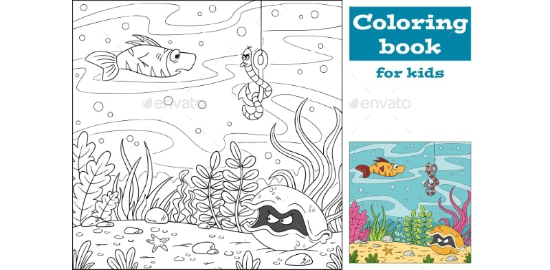 Coloring Book Template 16