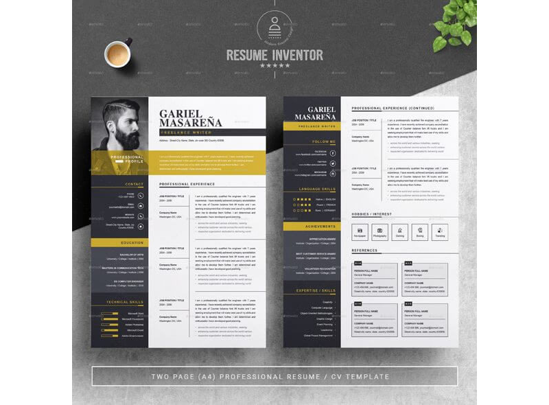 CV Template for Educational Jobs 08
