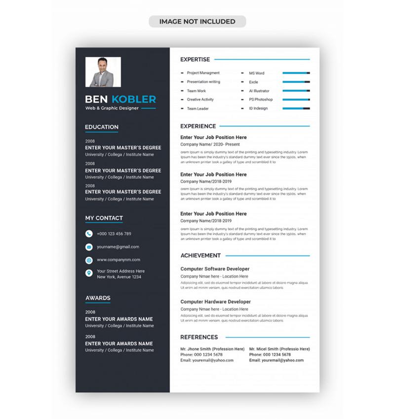 Functional Web Designer Resume Template