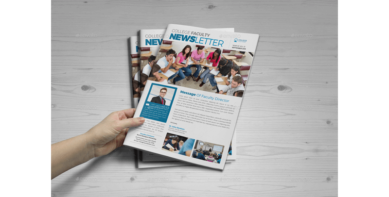 College Faculty Newsletter Template