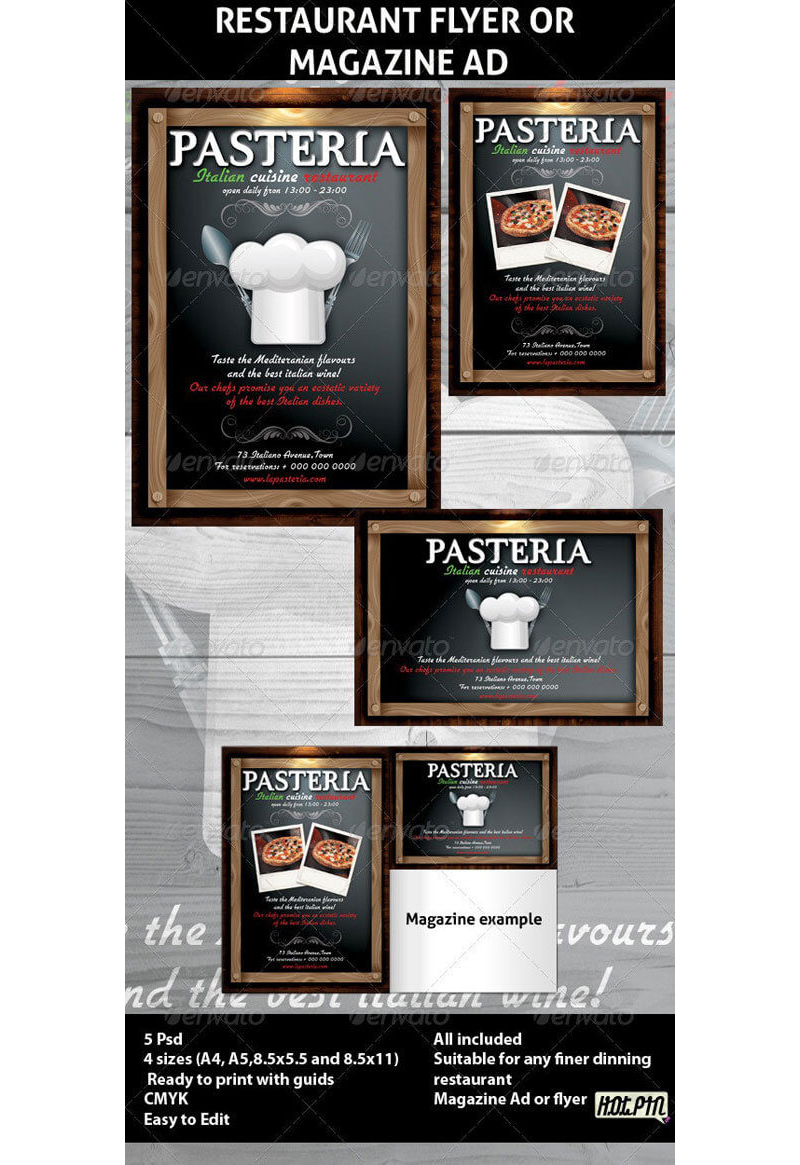 Italian Restaurant Menu Templates 16