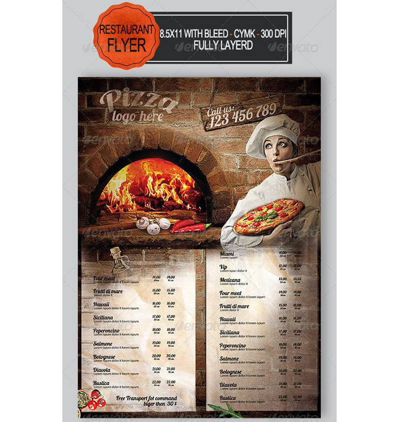 Italian Restaurant Menu Templates 15