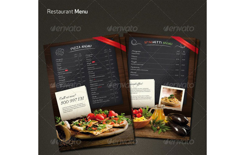 Italian Restaurant Menu Templates 17
