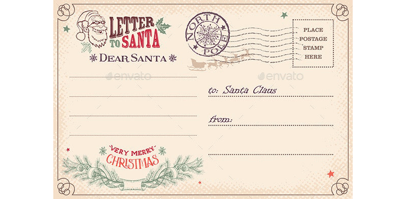 Standard Letter to Santa Template