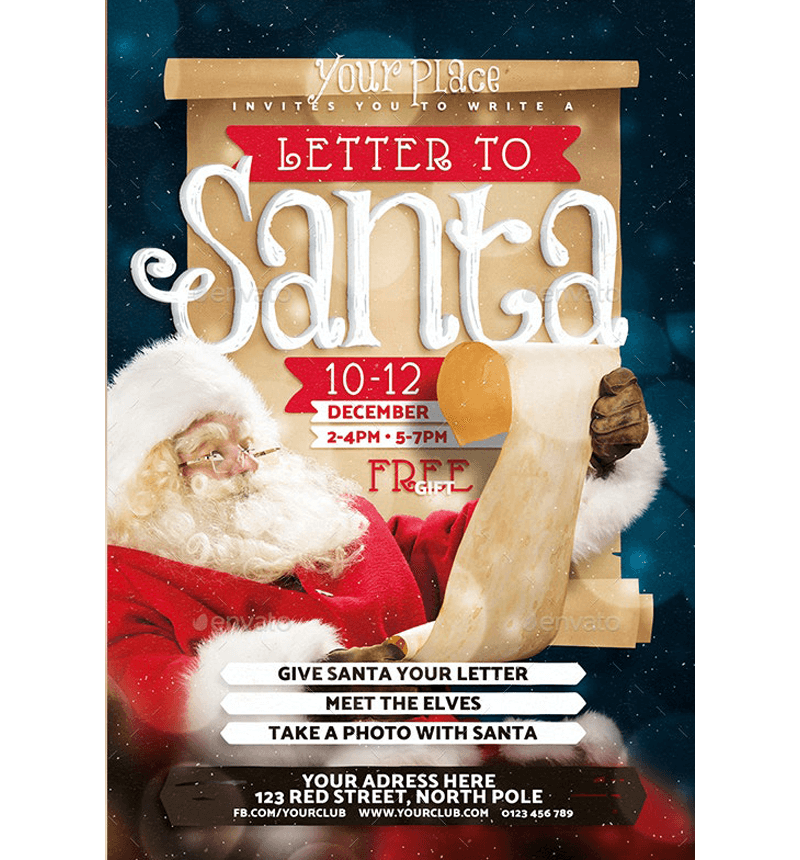 Vintage Letter to Santa Template