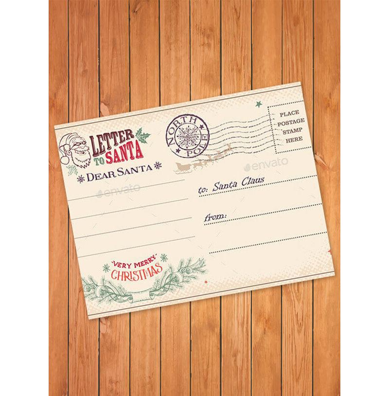 Modren Letter to Santa Template