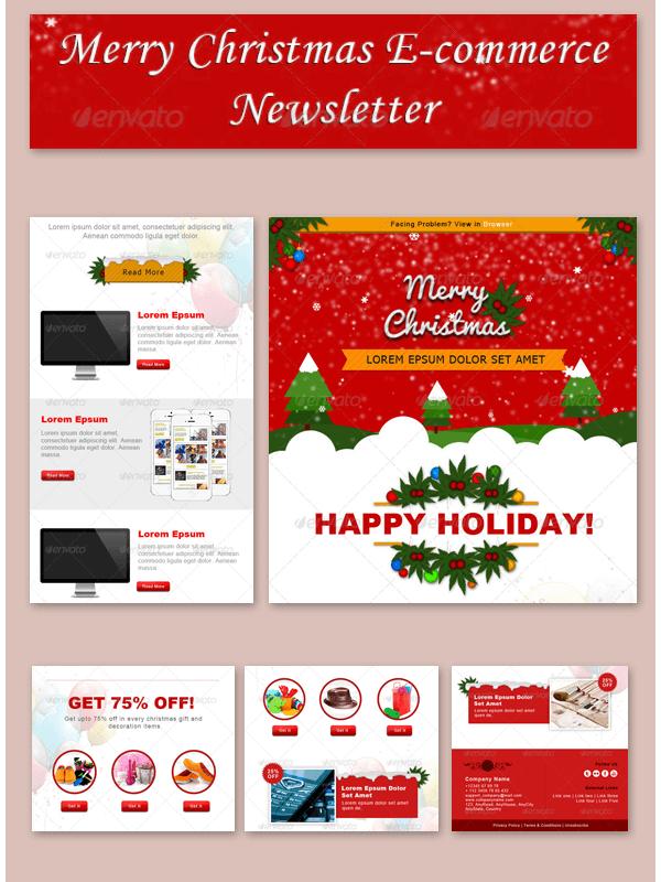 Multipurpose Christmas Newsletter Template