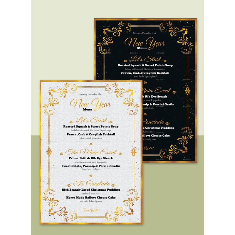 New Year Menu Template 01