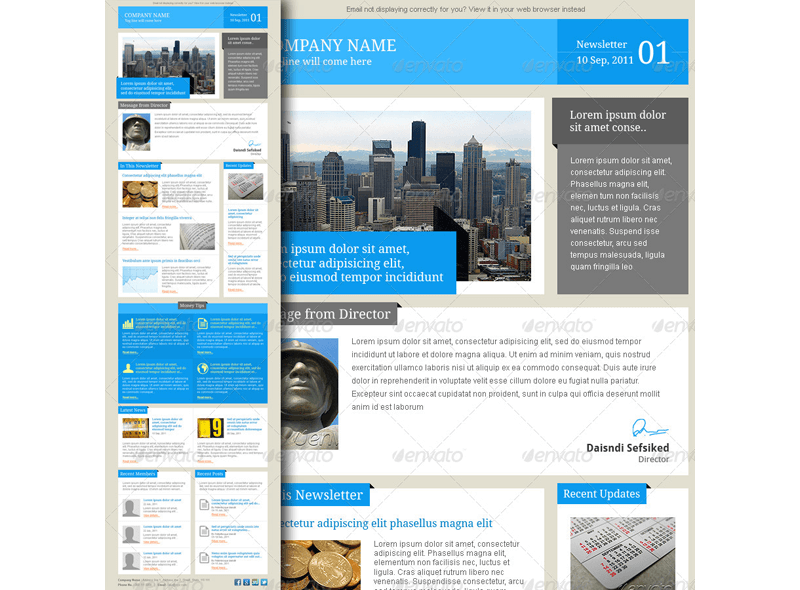 7-in-1 Email Newsletter Templates