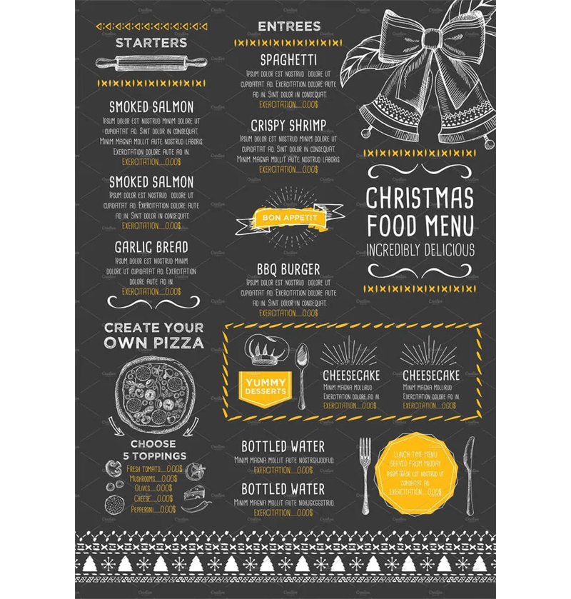 New Year Menu Template 05