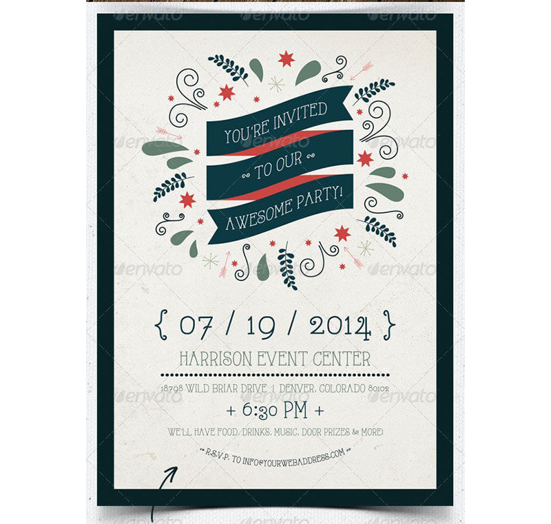 Awesome Party Invitation Template