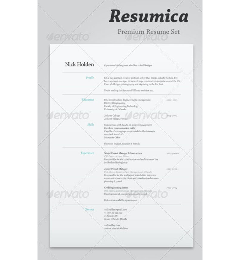 Agricultural CV and Resume Templates 26