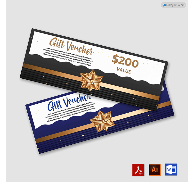 $200 Gift Coupon Template