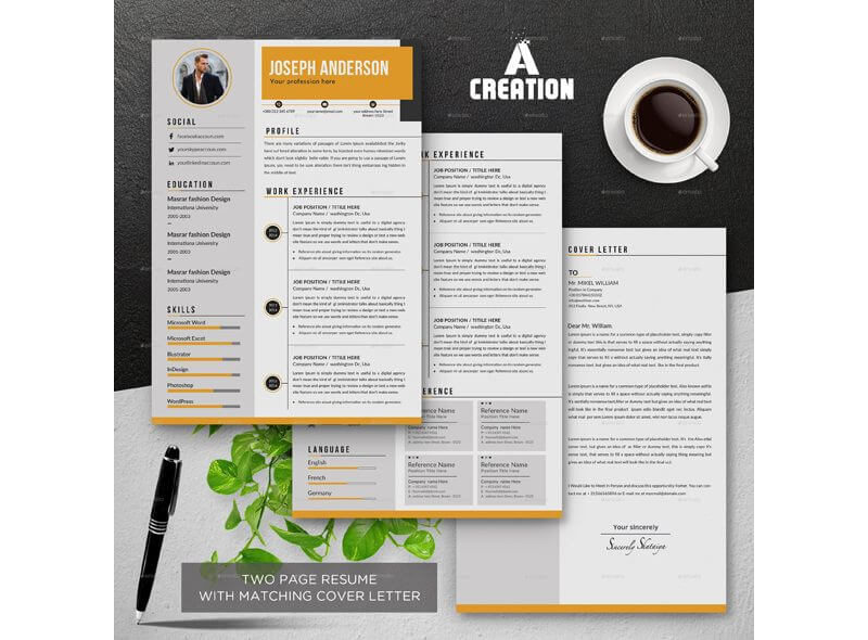 CV Template for Educational Jobs 07
