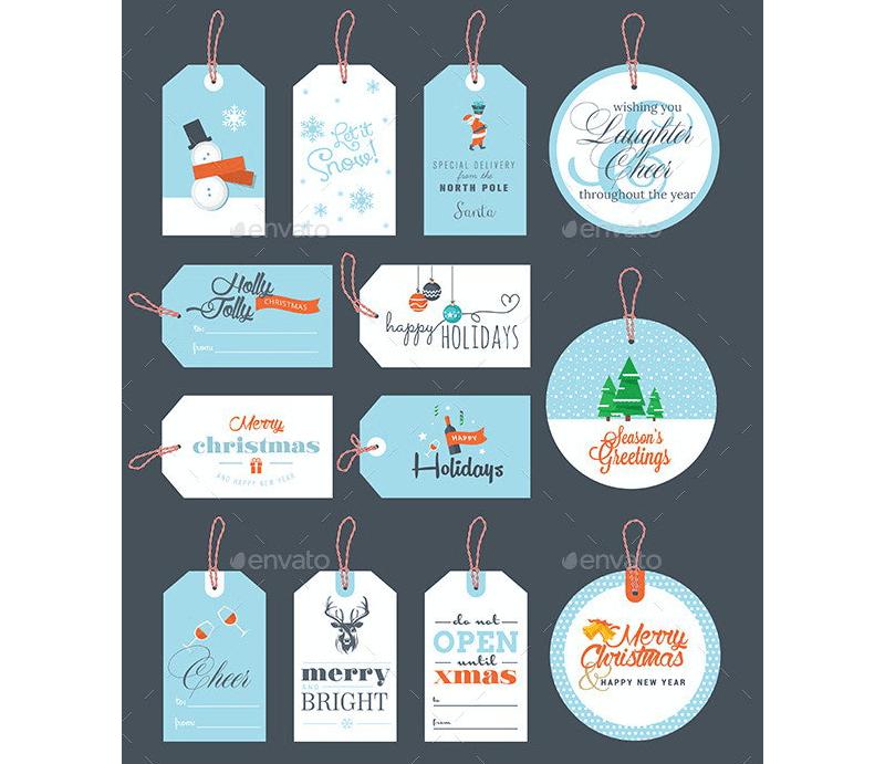 Christmas Gift Tag Template 14