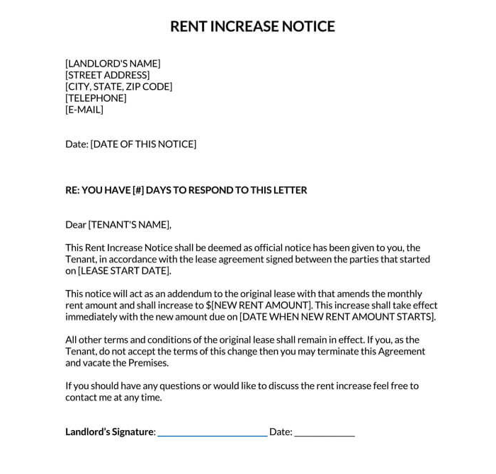 Rent Increase Notice 01