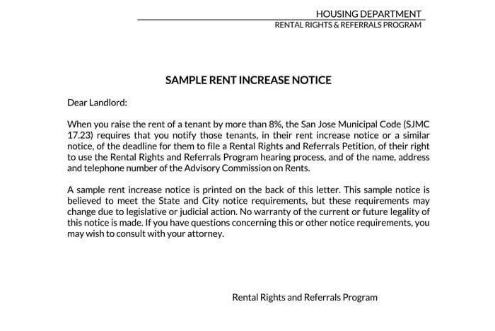 Rent Increase Notice 05