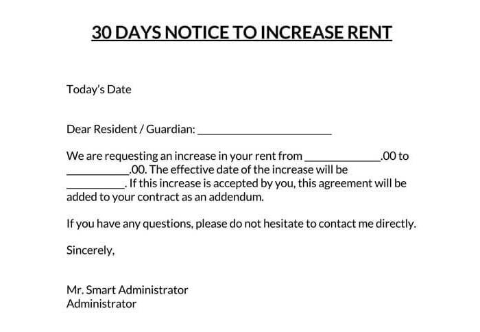 Rent Increase Notice 07