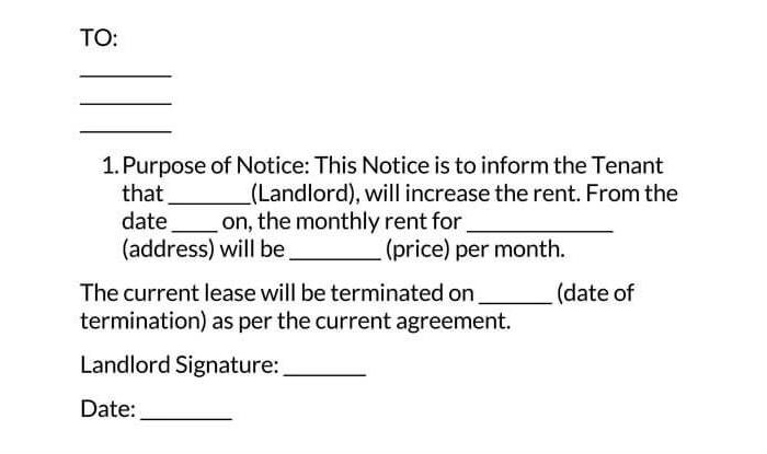 Rent Increase Notice 10