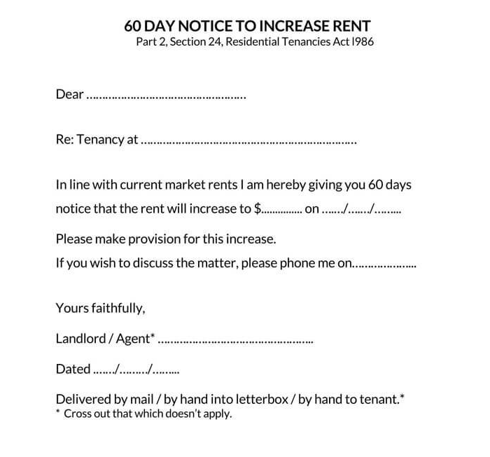 Rent Increase Notice 14