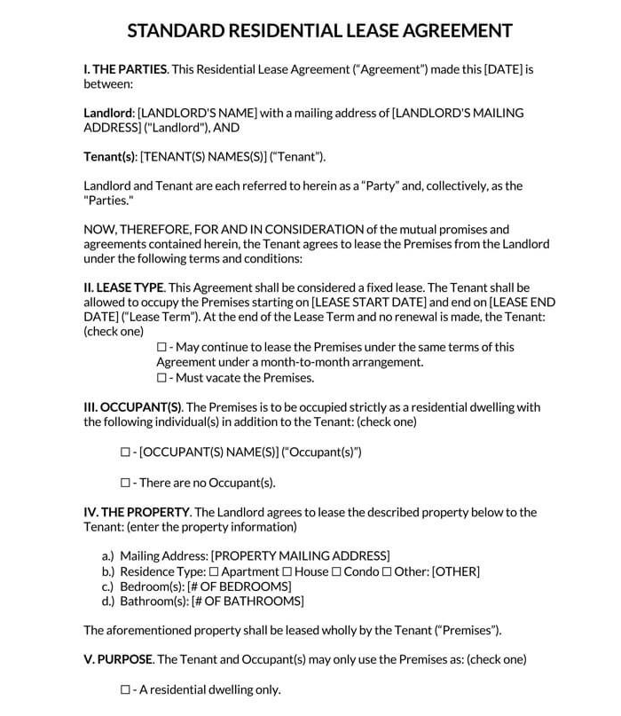Residential Sublease Agreement 02