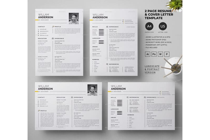 CV Template for Educational Jobs 09