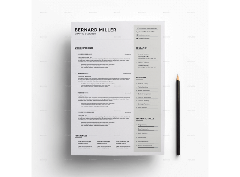 Financial Accountant Resume Template 12