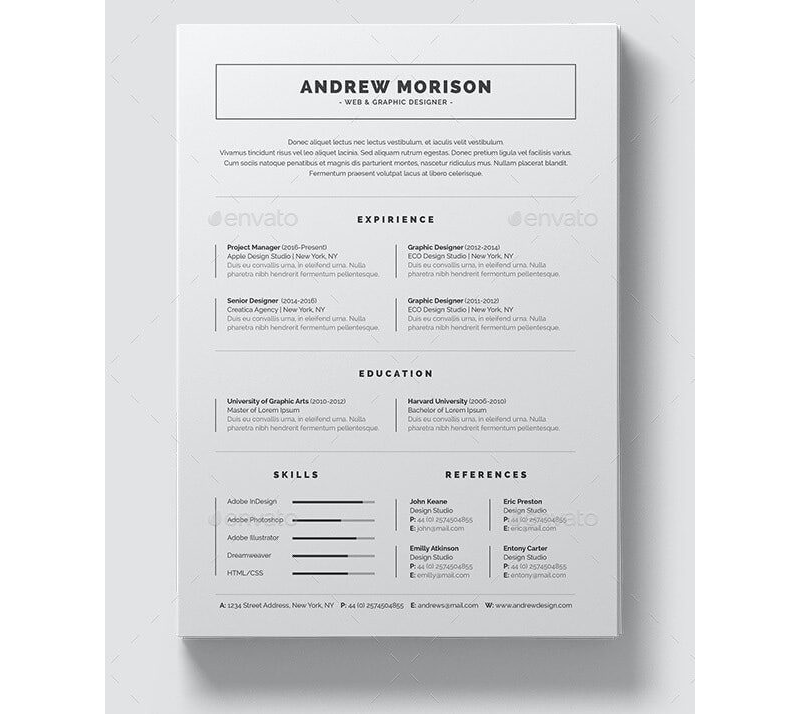 Insurance Resume Template 08