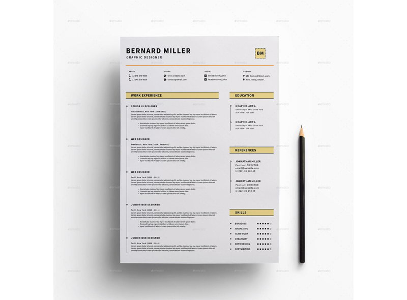 Financial Accountant Resume Template 14