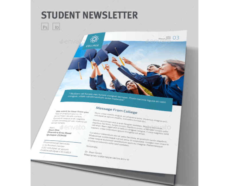 Students Newsletter Template