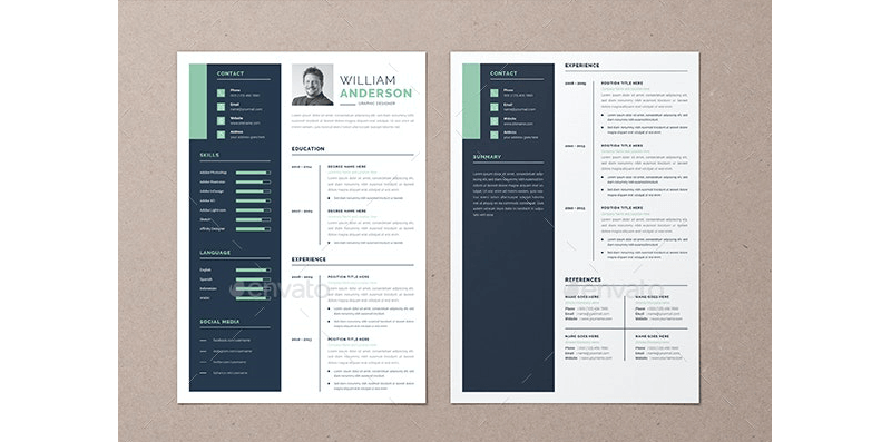 CV Template for Educational Jobs 05