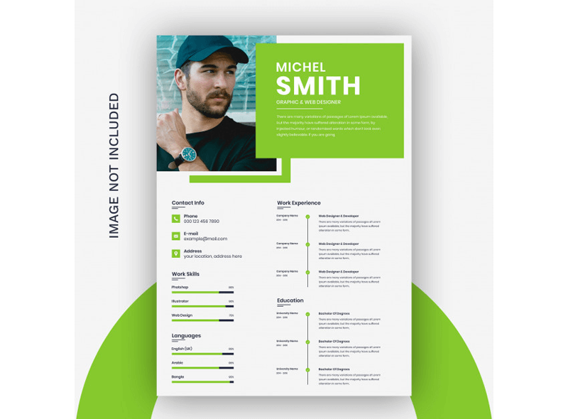 CV Template for Educational Jobs 12