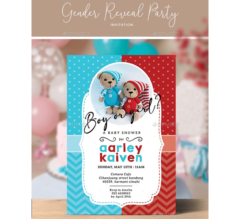 Gender Reveal Invitation Template 12