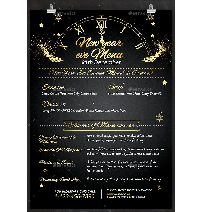 New Year Menu Template 02