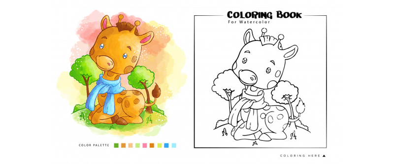 Coloring Book Template 23