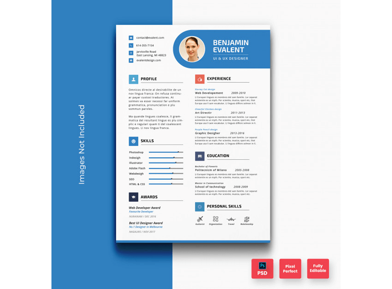 CV Template for Educational Jobs 14